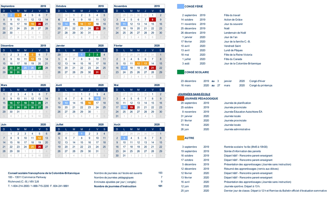 Calendrier Scolaire Mai 2020.Ecole Anne Hebert